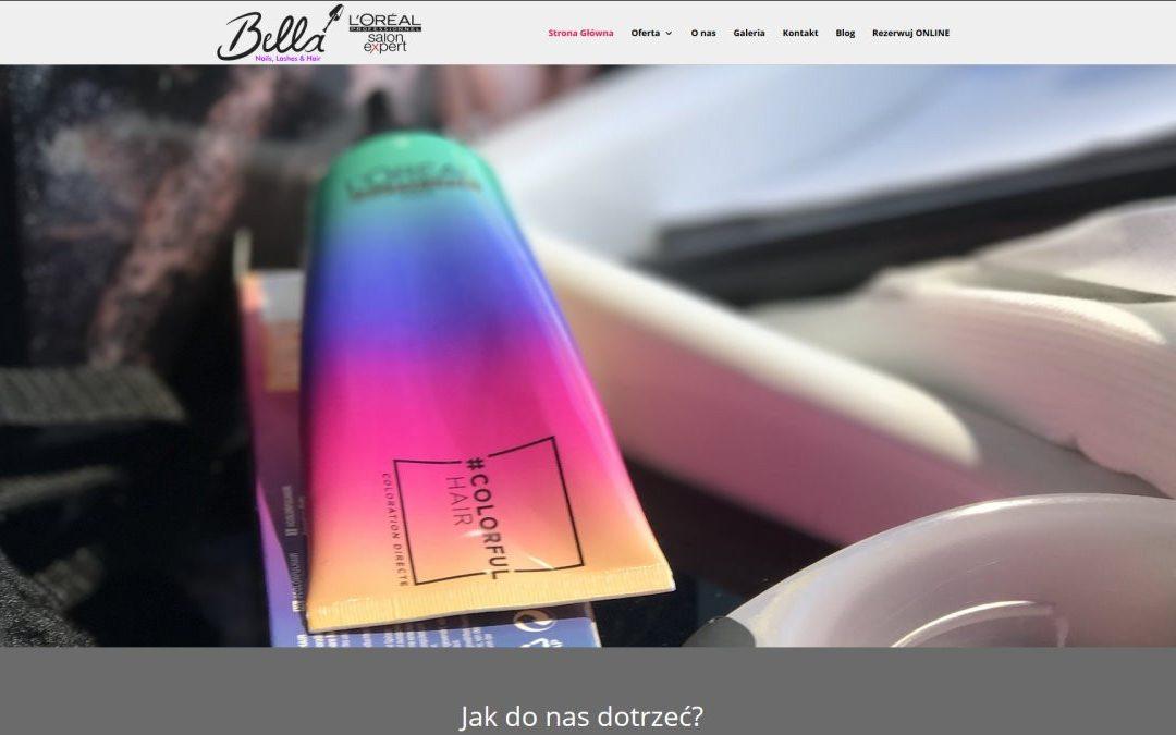 Bella Nails ,Lashes & Hair  – kolejna nasza realizacja WWW